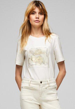 Print T-shirt - ecru placed print