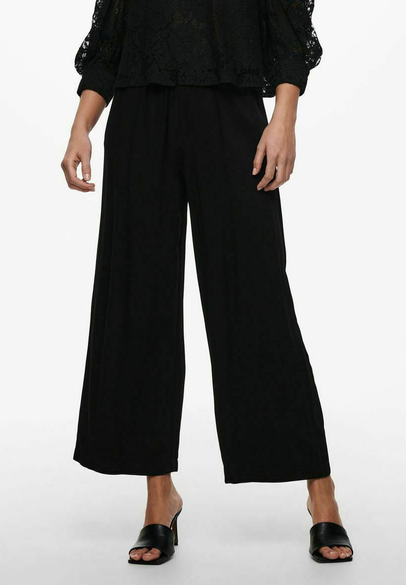 ONLY - Trousers - black