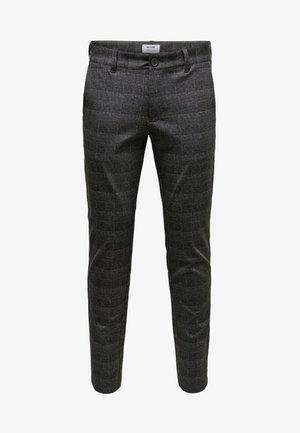 Pantalones chinos - dark grey melange