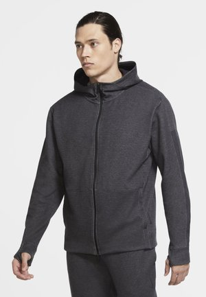 Zip-up hoodie - black/htr/black