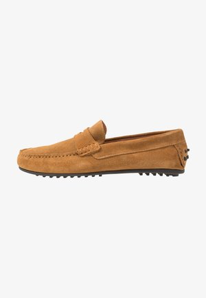 SLHSERGIO PENNY DRIVE SHOE - Moccasins - sand