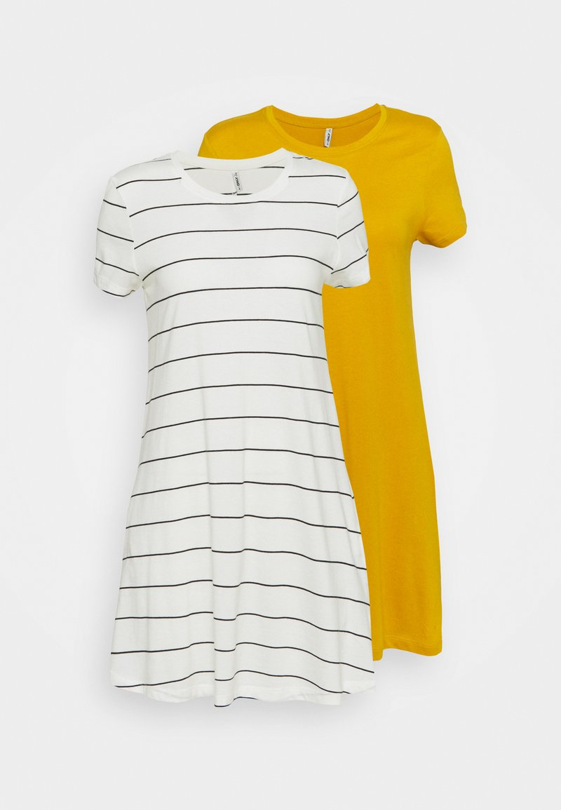 ONLY Petite - ONLMAY LIFE POCKET DRESS 2 PACK - Jersey dress - golden spice/cloud dancer/night
