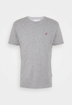 SALIS - Basic T-shirt - mottled grey