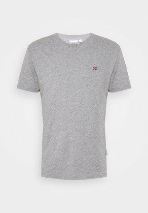 SALIS - Jednoduché triko - mottled grey