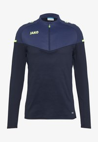 JAKO - ZIP CHAMP 2.0 - Fleece jumper - marine/blue/neongelb - 2