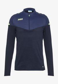 JAKO - ZIP CHAMP 2.0 - Fleecepullover - marine/blue/neongelb - 2