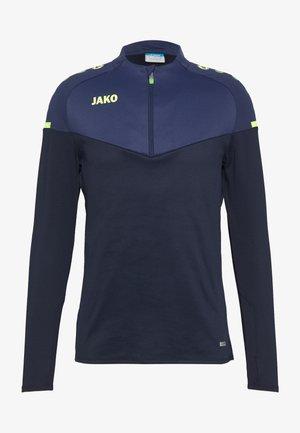 ZIP CHAMP 2.0 - Fleece jumper - marine/blue/neongelb