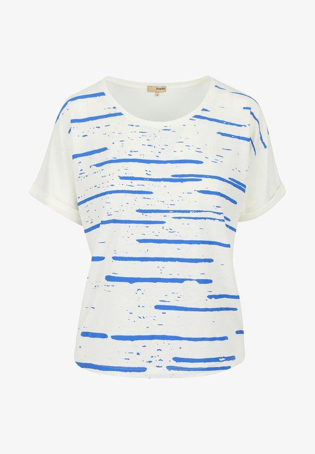 DUZ COMETA - T-shirt imprimé - natural blue