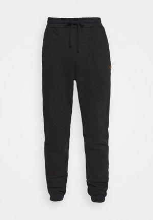 DOUBLE BRUSH TRACK PANT - Teplákové kalhoty - black