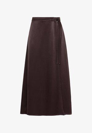 Wrap skirt - aubergine