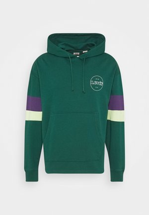 BLOCKED OPEN HEM HOODIE UNISEX - Sweater - greens