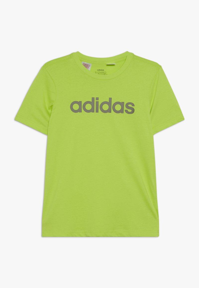 adidas Performance - LIN UNISEX - T-shirt imprimé - neon green/olive