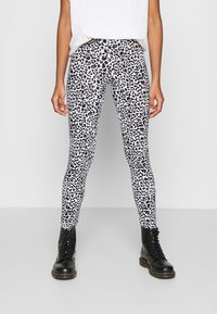 Noisy May - NMKERRY ANILLA   - Leggings - Trousers - bright white/black - 0