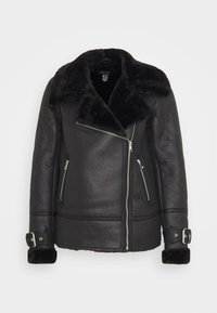 New Look - AVIATOR CHRISSY  - Faux leather jacket - black - 5
