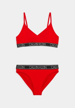 TRIANGLE SET - Bikini - fierce red