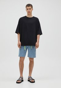 PULL&BEAR - LOOSE - T-Shirt basic - black - 1