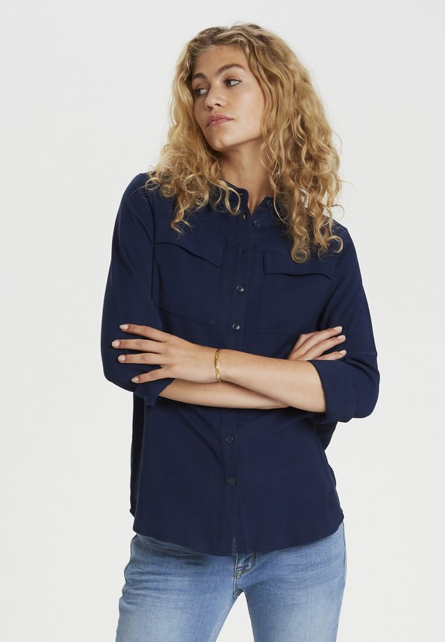 Button-down blouse - total eclipse