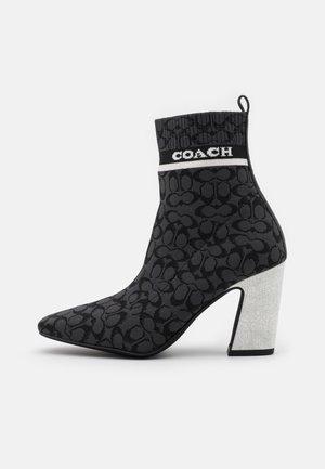 TASHA BOOTIE - High heeled ankle boots - black