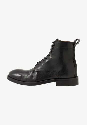 YEW - Šněrovací kotníkové boty - black
