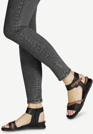Wedge sandals - black nut