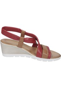 Piazza - Wedge sandals - rot - 5