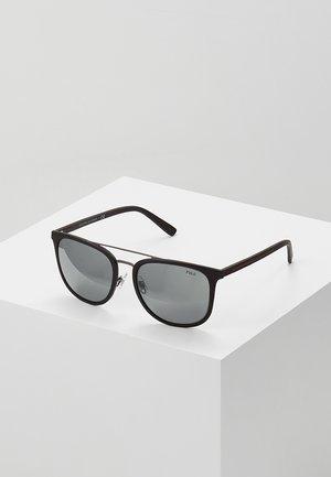 Solbriller - rubber black/mirror silver