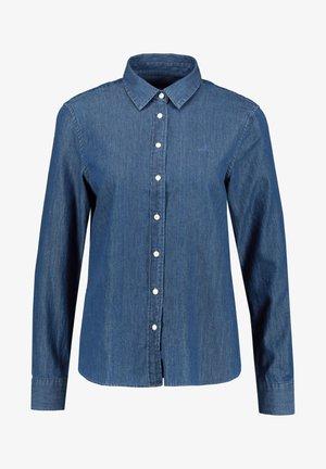 LUXURY CHAMBRAY - Button-down blouse - indigo