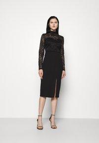 WAL G. - HIGH NECK DRESS - Cocktail dress / Party dress - black - 0