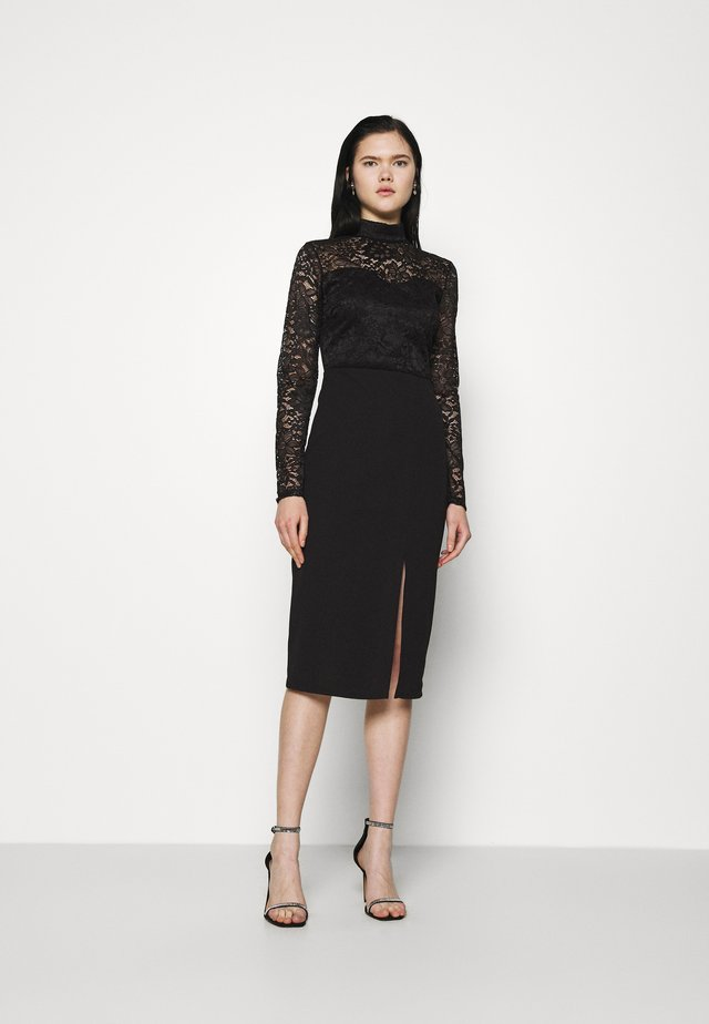 HIGH NECK DRESS - Cocktail dress / Party dress - black