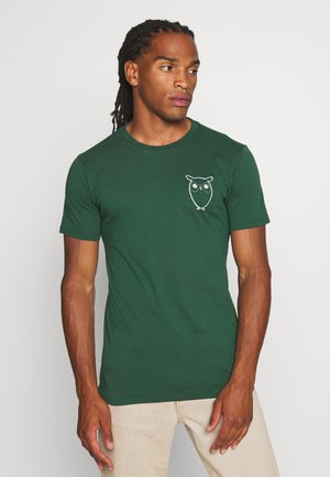 WITH OWL CHEST LOGO  - T-shirt print - green