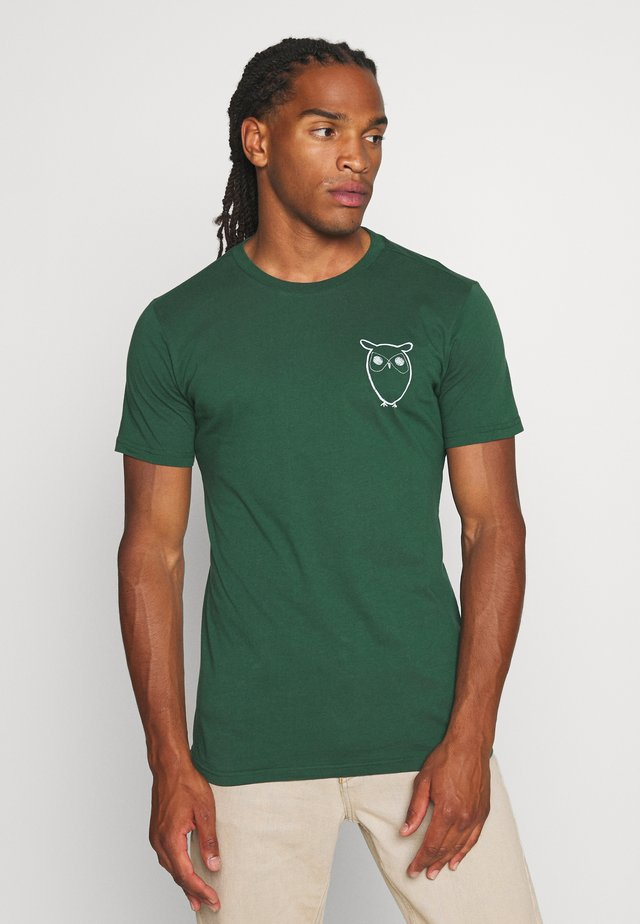 WITH OWL CHEST LOGO  - T-shirt imprimé - green