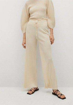 Kalhoty - blanco marfil