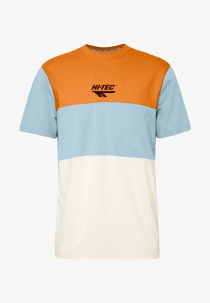 SIMON - Camiseta estampada - orange zest/deep pool/soya