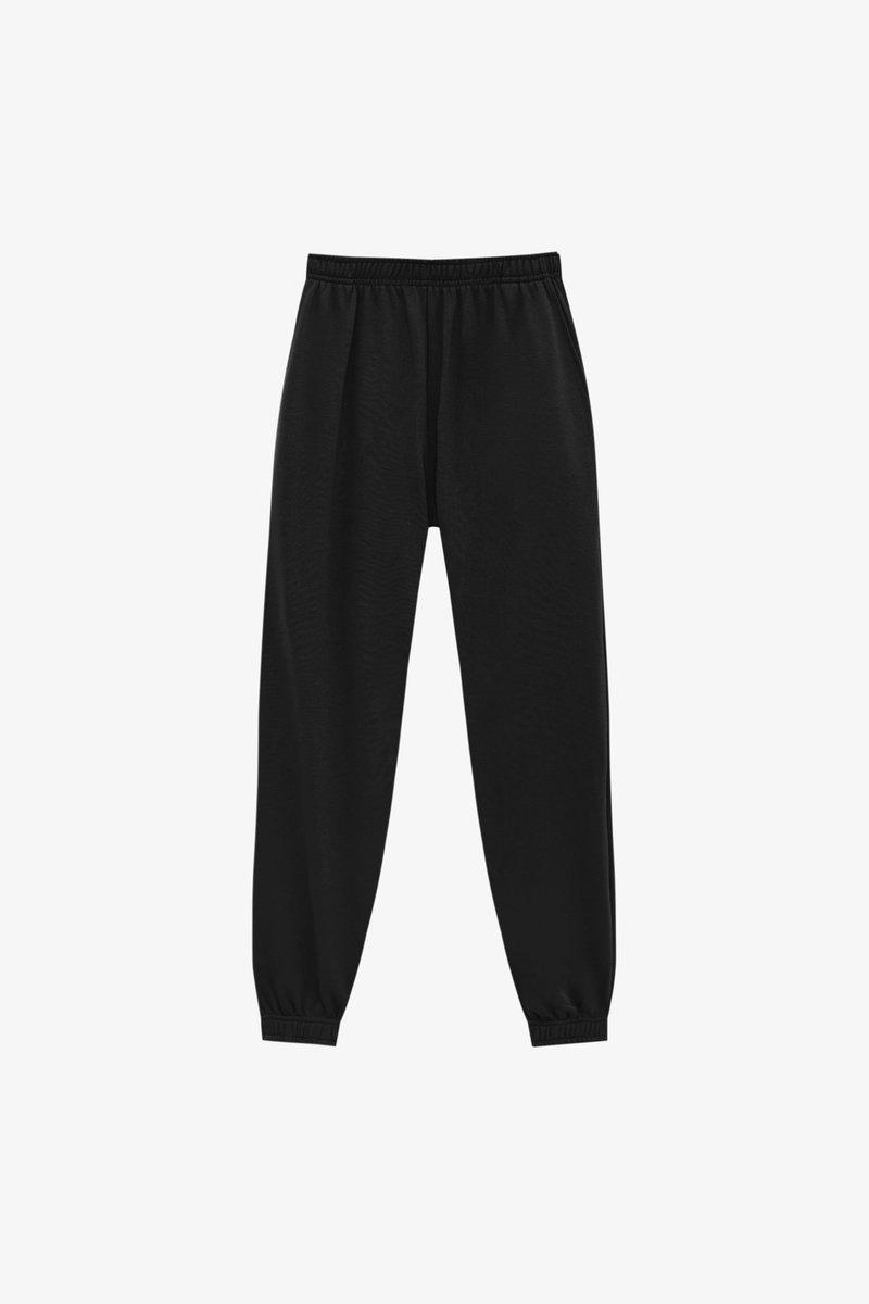 PULL&BEAR - BASIC-JOGGER - Tracksuit bottoms - black