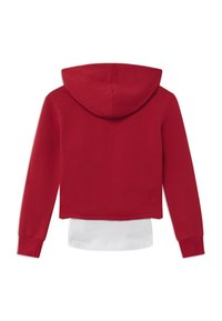 Blue Effect - GIRLS BOXY HOODIE EXCEPTIONAL 2-IN-1 - Hoodie - granatrot reactive - 1