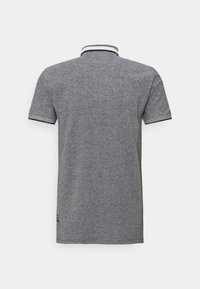 TOM TAILOR DENIM - TWO TONE EFFECT - Polo shirt - black melange - 1