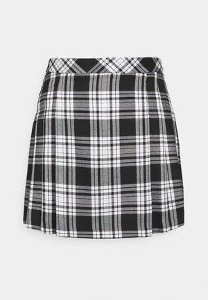 CHECK KILT SKIRT - Mini skirt - black