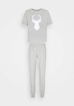 ONLCELINE NIGHTWEAR SET - Pyjama set - light grey melange