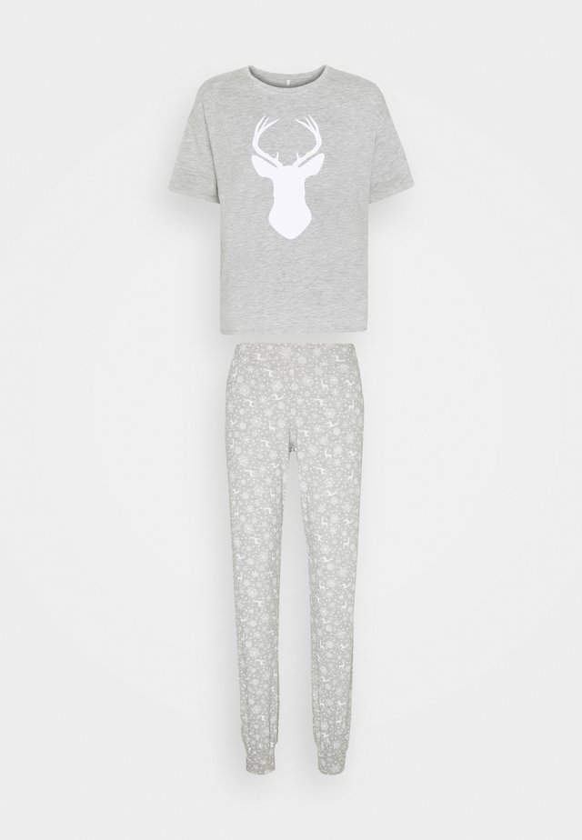 ONLCELINE NIGHTWEAR SET - Pyjama - light grey melange