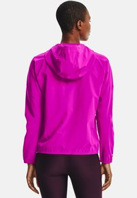 Under Armour - HOODED JACKET - Laufjacke - meteor pink - 2