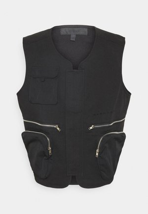 CARGO POCKET UTILITY VEST - Waistcoat - black
