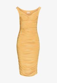 Club L London - BARDOT RUCHED DRESS - Cocktail dress / Party dress - mustard - 3