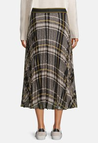 Betty & Co - MIT PRINT - A-line skirt - schwarz weiß - 2