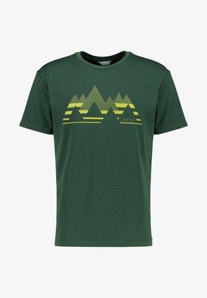Print T-shirt - dunkelgrün