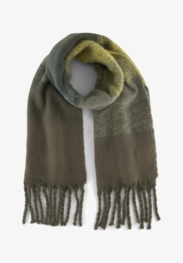 MIT STREIFENMUSTER - Scarf - olive night green