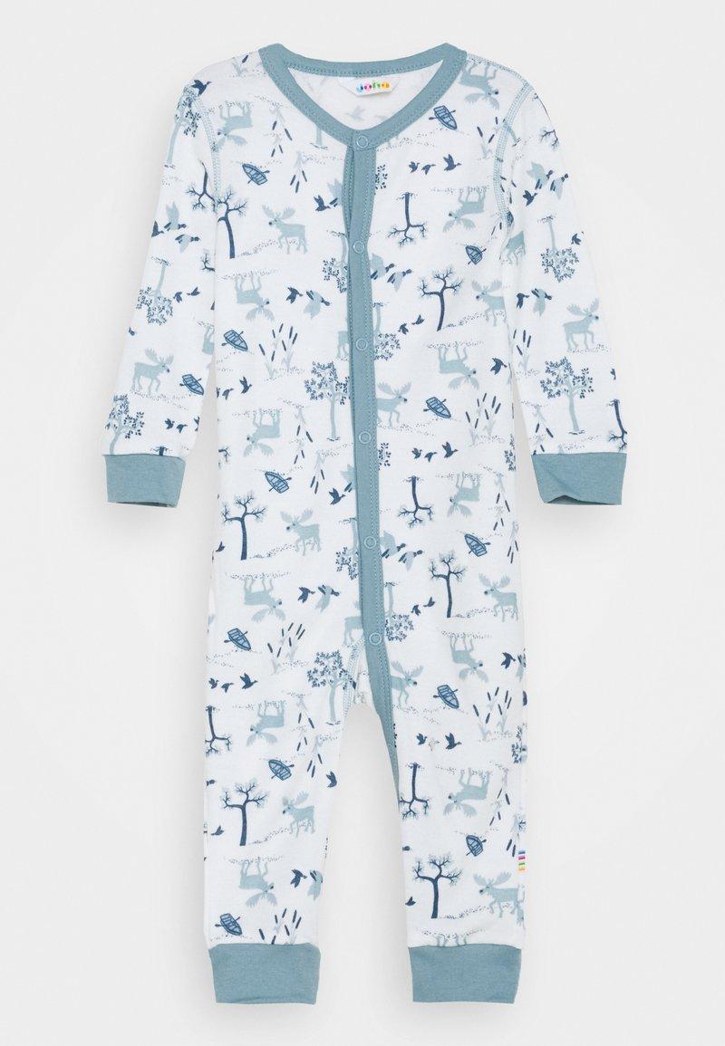Joha - JUMPSUIT UNISEX - Pyjamas - light blue/offwhite