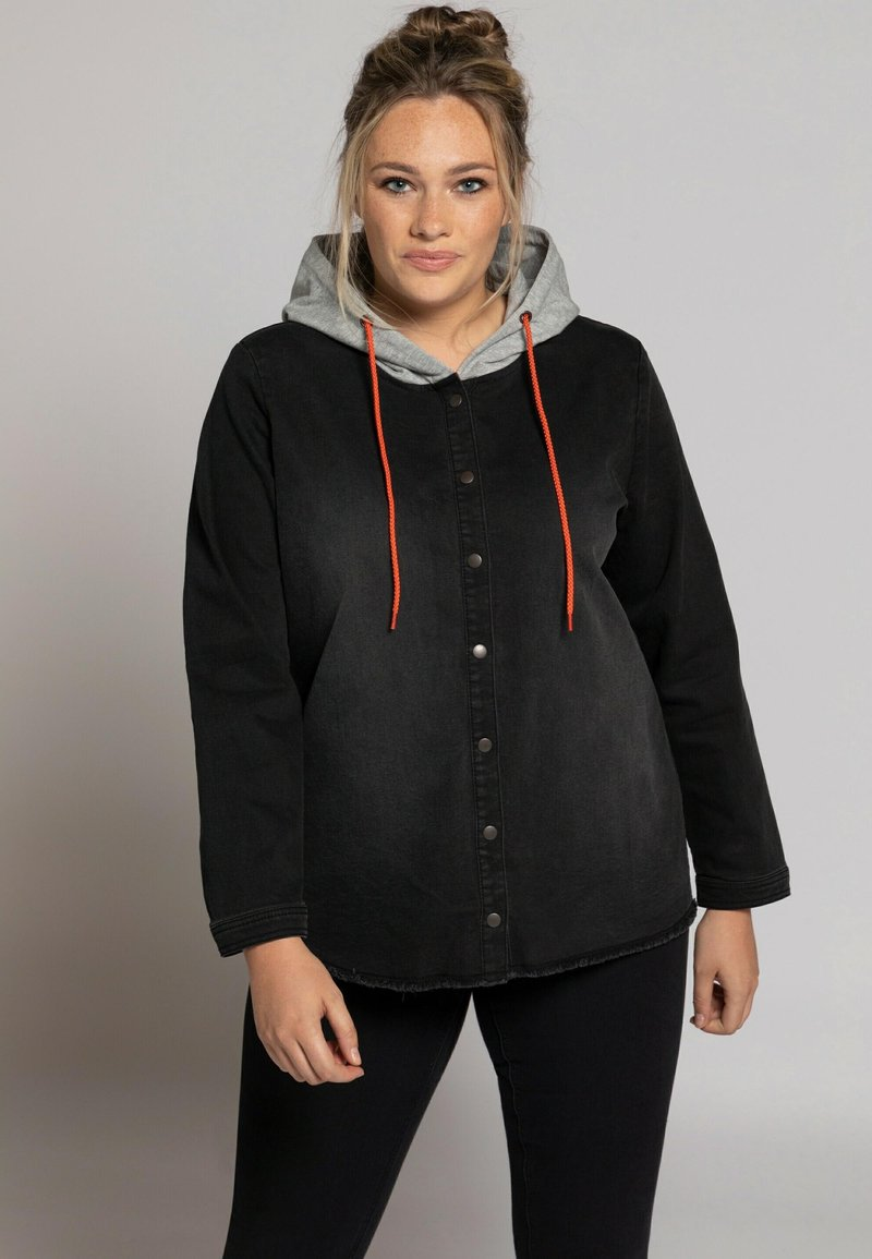 Ulla Popken - Denim jacket - black