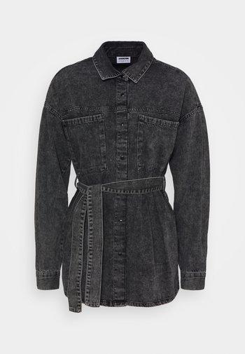 NMHOPE BELT - Denim jacket - black