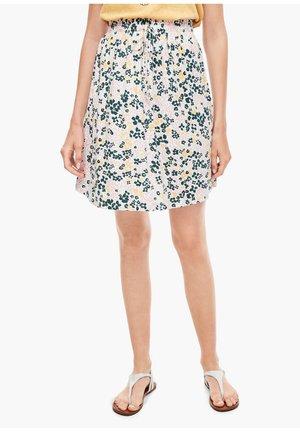 A-line skirt - cream aop flowers