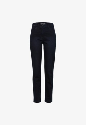 STYLE CORRY SLASH - Slim fit jeans - dark blue mit effekt